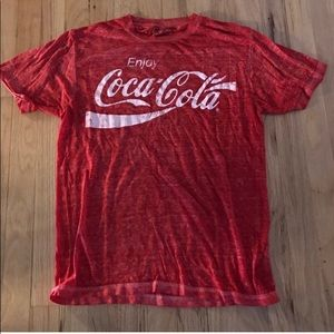 VTG COCA COLA BURNOUT TEE SMALL